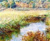 Meadow with Brook Medfield Massachusetts 1909 By Robert Lewis Reid