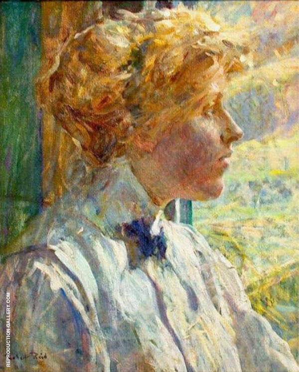 Portrait of The Artist Wife By Robert Lewis Reid
