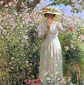 Summer's Day Flower Garden By Robert Lewis Reid