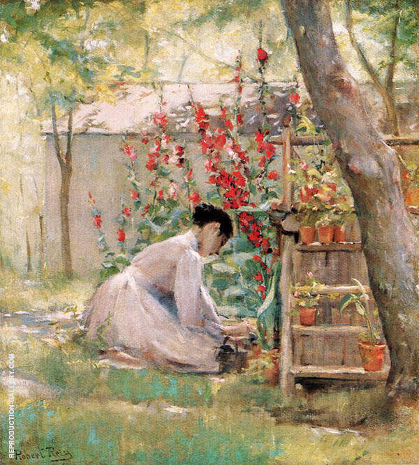 Tending The Garden By Robert Lewis Reid