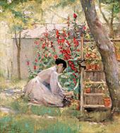 Tending The Garden By Robert Lewis Reid
