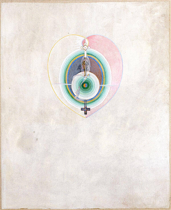 The Dove No11 GroupIX No35 Painting By Hilma AF Klint