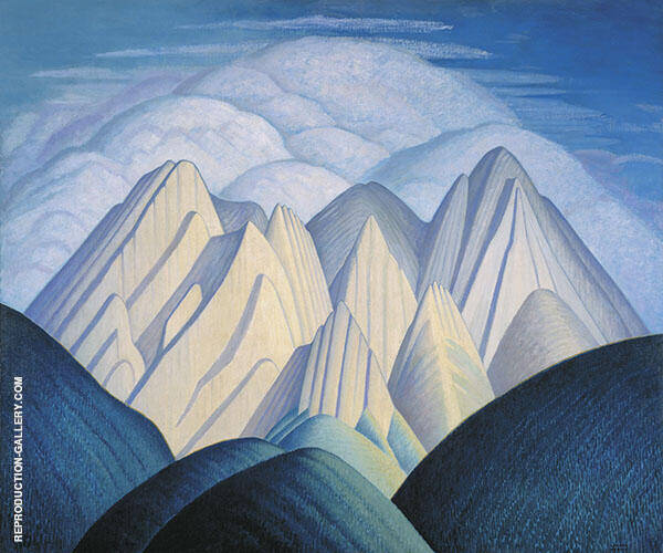 Mountain Near Jasper c 1934 By Lawren Harris