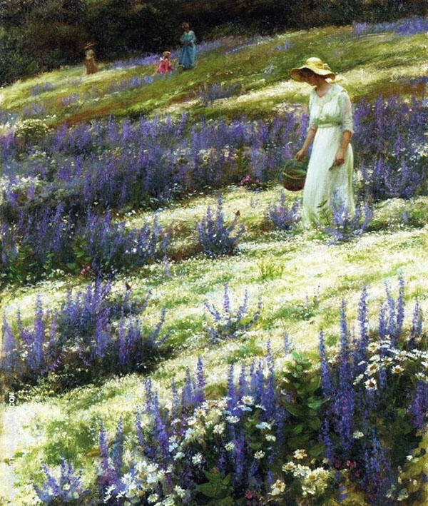 Ladies on a Hill By Charles Courtney Curran
