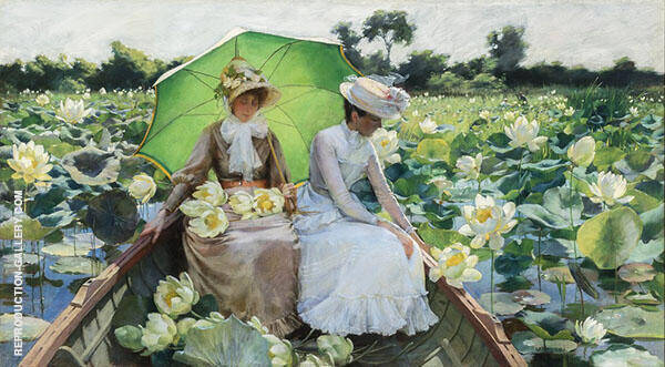 Lotus Lilies 1888 By Charles Courtney Curran