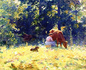 Milking Time 1889 By Charles Courtney Curran