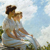 on The Heights 1909 By Charles Courtney Curran