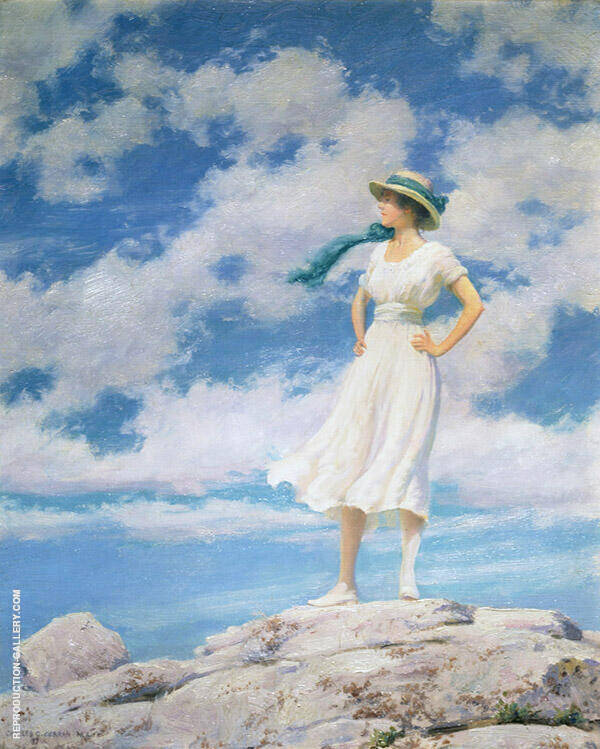 On The Summit By Charles Courtney Curran