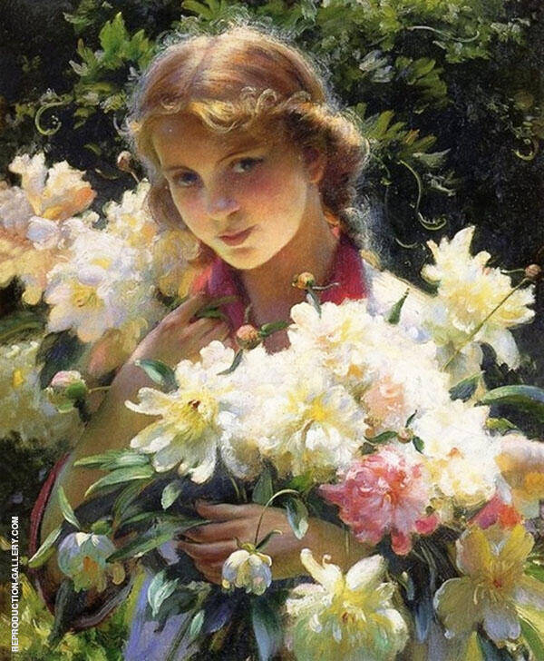 Peonies 1915 By Charles Courtney Curran
