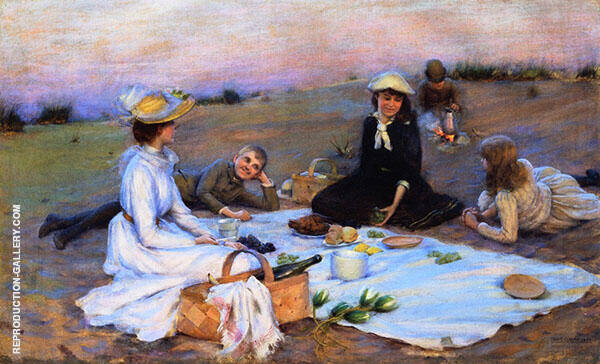 Picnic Supper on The Sand Dunes By Charles Courtney Curran