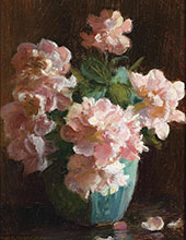 Pink Roses By Charles Courtney Curran