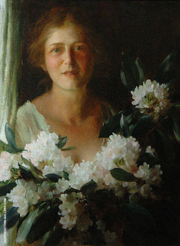 Rhodedendrons By Charles Courtney Curran