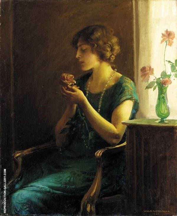 The Blown Rose By Charles Courtney Curran