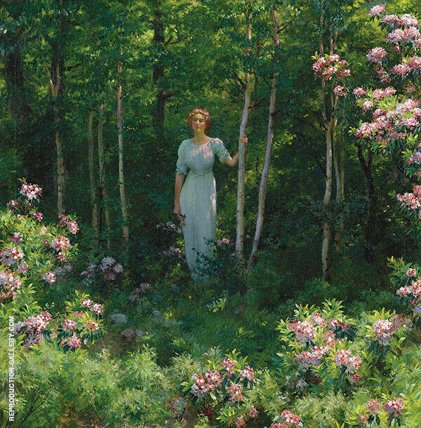 The Edge of The Woods By Charles Courtney Curran