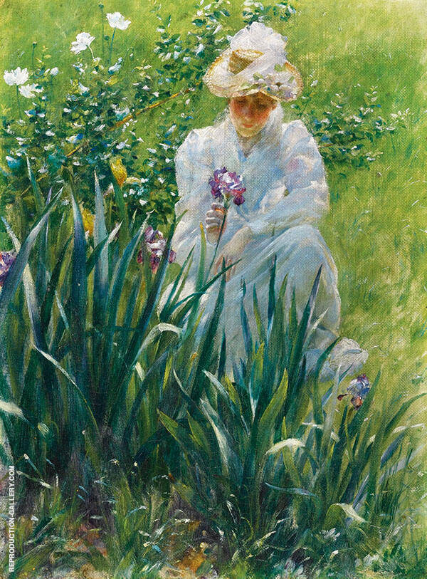 The Iris Bed By Charles Courtney Curran