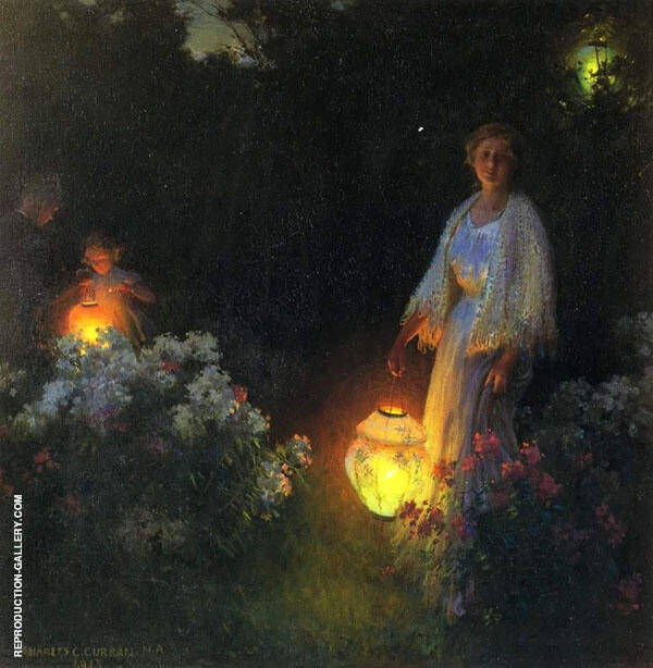The Lanterns By Charles Courtney Curran