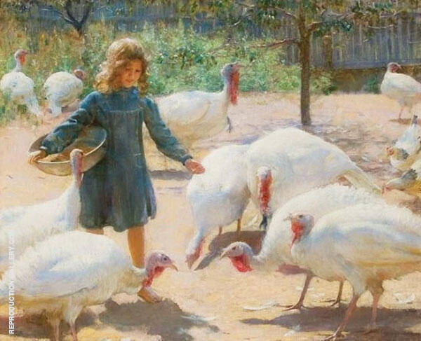 White Turkeys 1898 By Charles Courtney Curran