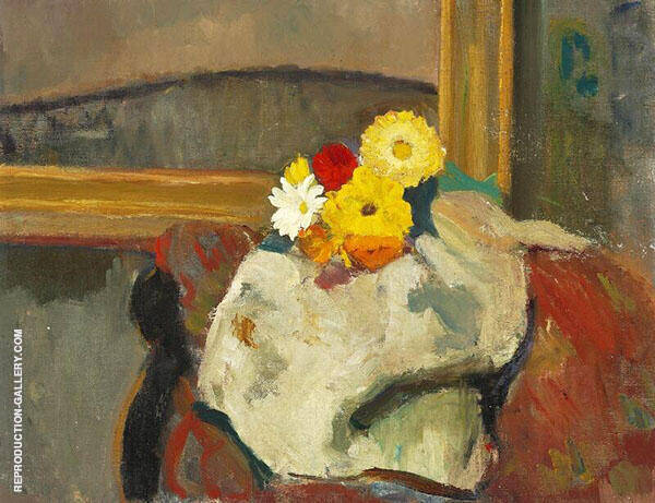 Interior with a Flower Bouquet By Karl Isakson