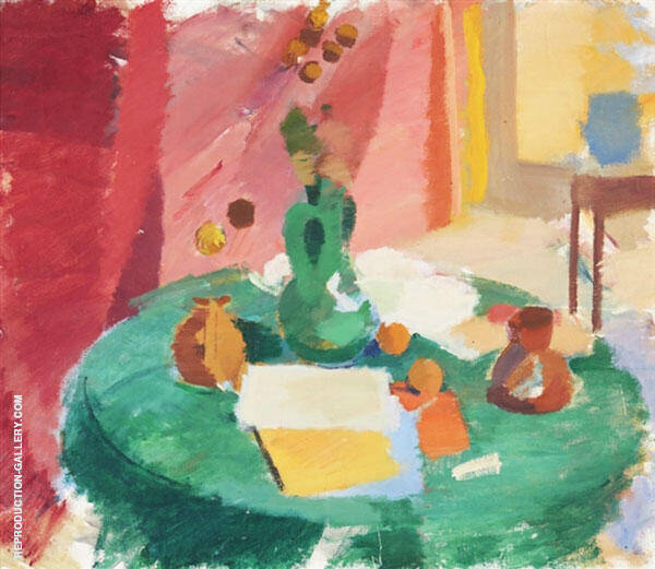 Still Life with Fruits and Books By Karl Isakson