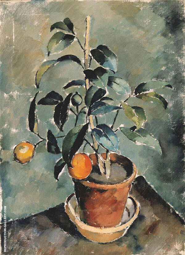 Orange Plant Painting By Karl Isakson - Reproduction Gallery