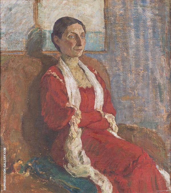 Portrait of Mrs Bertha Brandstrup 1909 Painting By Karl Isakson
