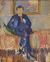 Portrait of The Painter Karl Schou By Karl Isakson