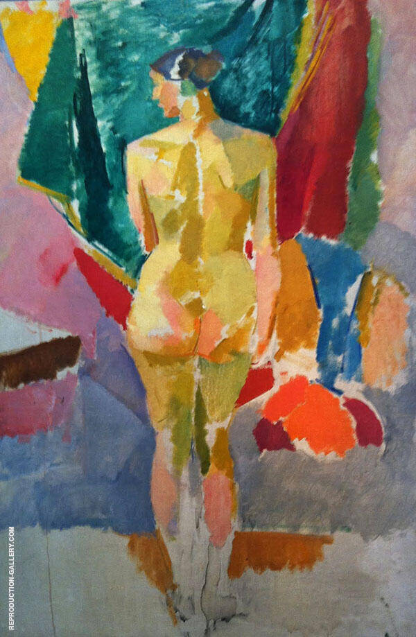 Standing Model Seen from The Back 1922 By Karl Isakson