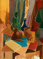 Still Life Nature Morte with Vases 1918 By Karl Isakson