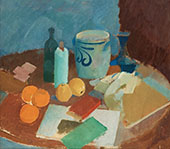 Still Life with Fruits and Jug By Karl Isakson