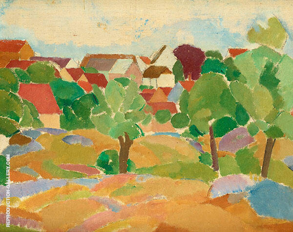 Summer Landscape Svaneke 1918 By Karl Isakson
