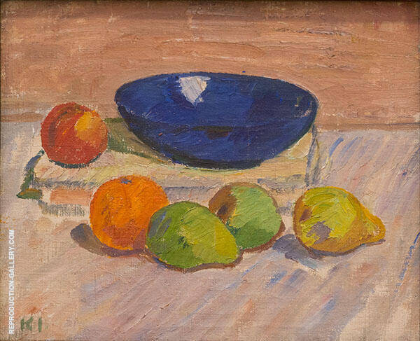 Window Display with Blue Bowl and Fruits 1910 By Karl Isakson