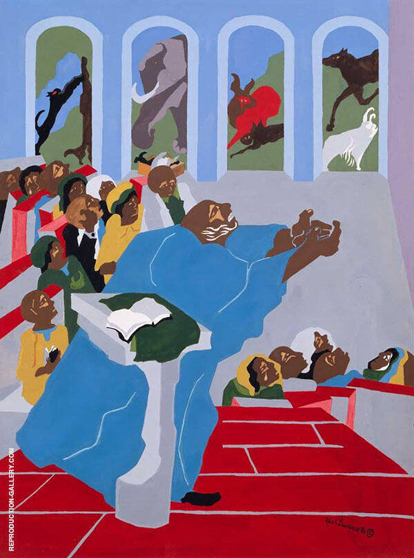 And God Created All The Beasts of The Earth 1989 By Jacob Lawrence