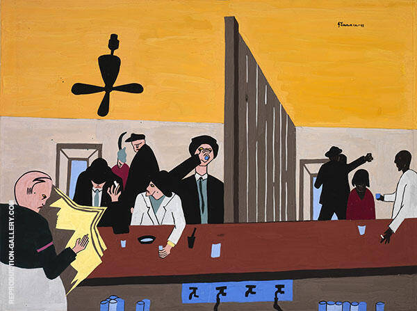 Bar and Grill 1941 Painting By Jacob Lawrence - Reproduction Gallery