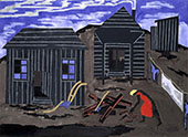 Firewood 1942 By Jacob Lawrence