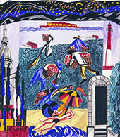 New Jersey from The United States Series 1946 By Jacob Lawrence