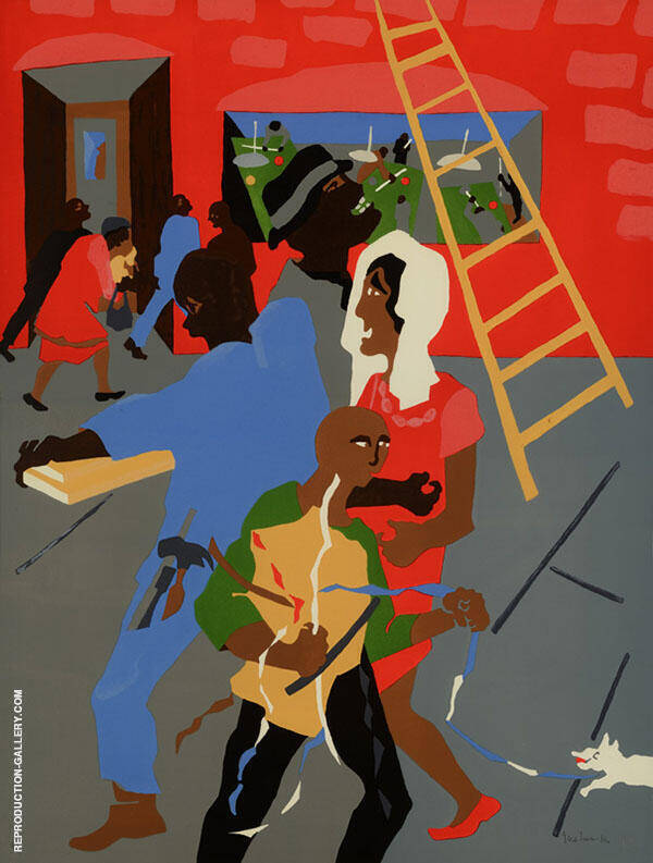 On The Way 1990 Painting By Jacob Lawrence - Reproduction Gallery