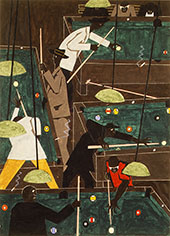 Pool Parlor 1942 By Jacob Lawrence