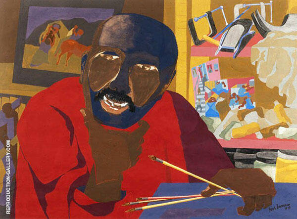 Self Portrait By Jacob Lawrence