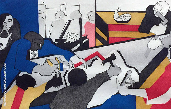 Ten Builders 1996 Painting By Jacob Lawrence - Reproduction Gallery