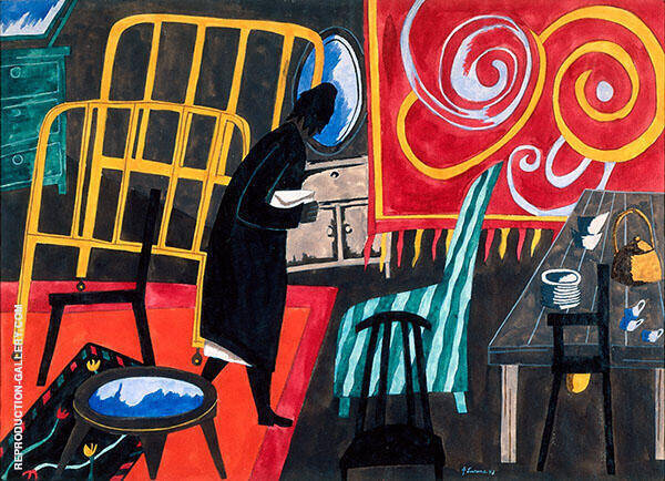 The Apartment 1943 Painting By Jacob Lawrence - Reproduction Gallery