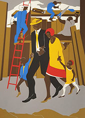 The Builders The Family 1974 By Jacob Lawrence