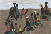 The Migrants Arrived in Great Numbers 1941 By Jacob Lawrence