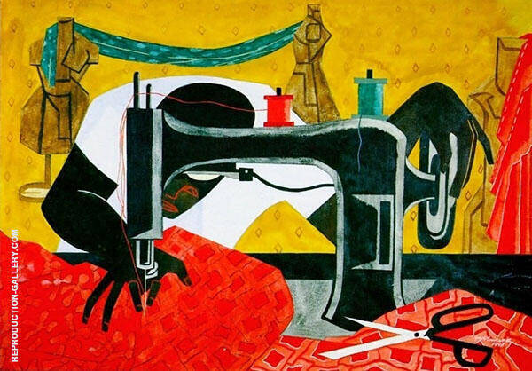 The Seamstress 1946 By Jacob Lawrence