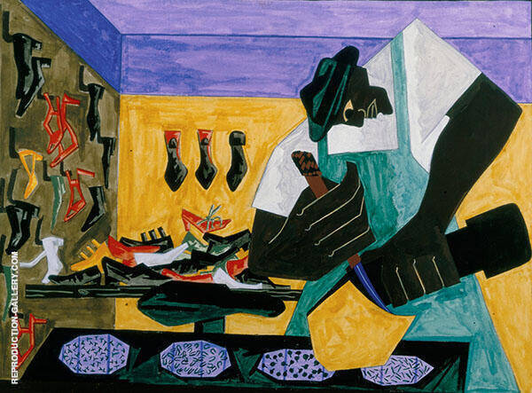The Shoemaker 1945 By Jacob Lawrence