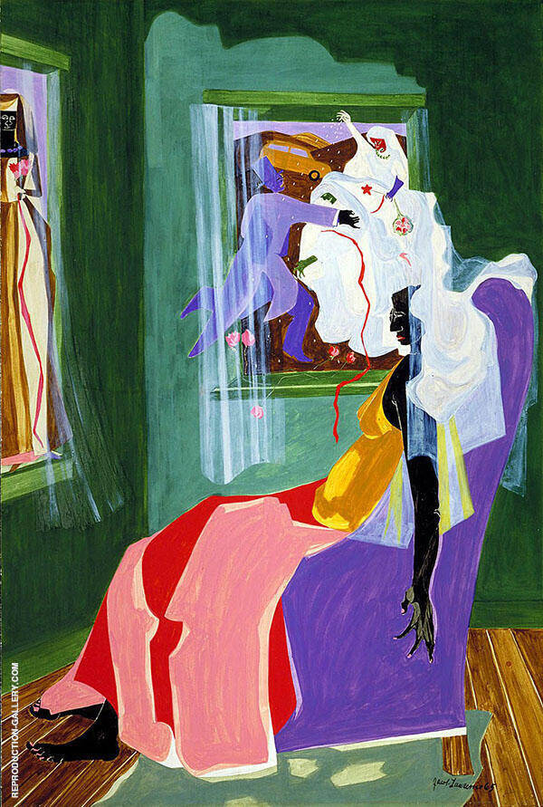 They Dreams No2 1965 Painting By Jacob Lawrence - Reproduction Gallery