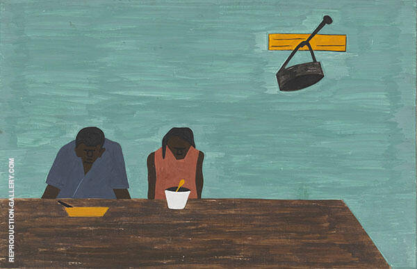 They were Very Poor 1941 By Jacob Lawrence
