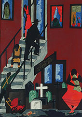 Tombstones 1942 By Jacob Lawrence