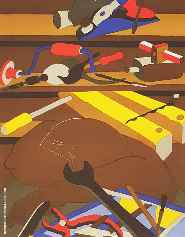 Tools 1977 By Jacob Lawrence