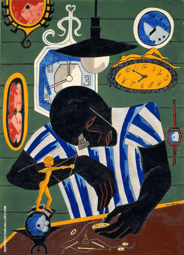 Watchmaker 1946 By Jacob Lawrence