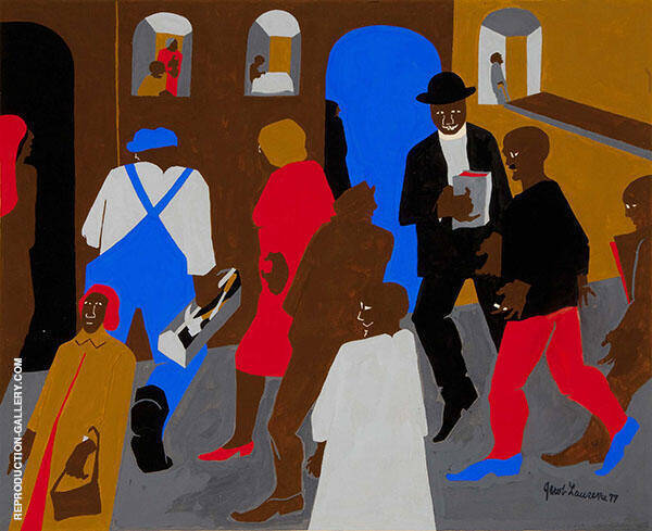 Windows 1977 Painting By Jacob Lawrence - Reproduction Gallery